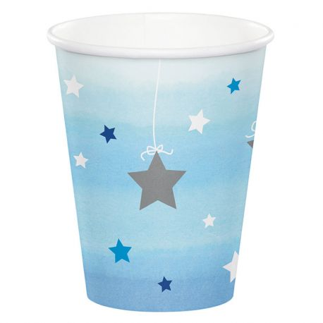 8 Vasos Un Año niño Little Star 266 ml