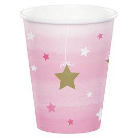 8 Vasos Un Año Niña Little Star 266 ml