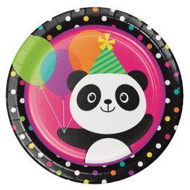 8 Platos Panda 23 cm