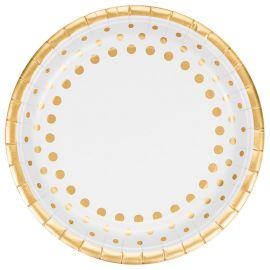 8 Platos Sparkle Gold 23 cm