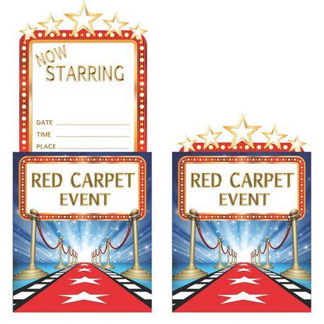 8 Invitaciones Hollywood