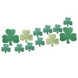 12 Mini Recortables Glitter Shamrocks
