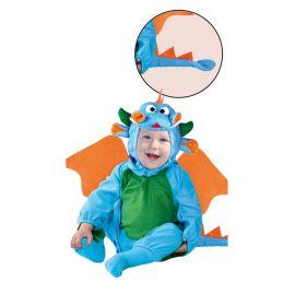 Disfraz de Dragóncito de Bebé Azul y Verde