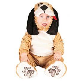 Disfraz de Perrito Bebé Marrón Claro