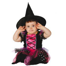 Disfraz de Pink Witch para Bebé Brillante