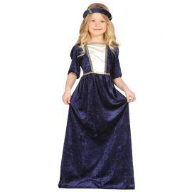 Disfraz de Dama Medieval para Niña Doncella