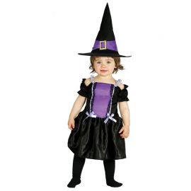 Disfraz de Bruja Violeta para Bebé Mágico