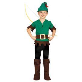 Disfraz de Ladrón del Bosque Hood para Niño