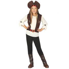 Disfraz de Pirata Corsaria Niña de los 7 Mares