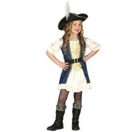 Disfraz de Capitana Pirata para Niña Elegante