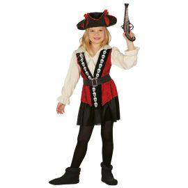 Disfraz de Skull Pirate para Niña Elegante