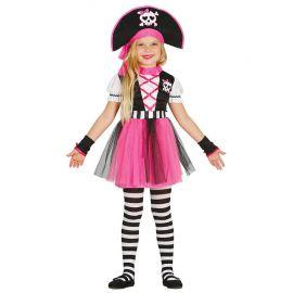 Disfraz de Pirata Rayada para Niña