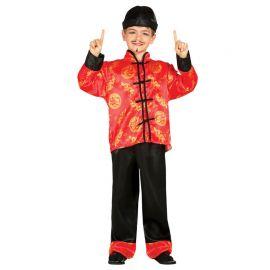 Disfraz de Oriental Para Niño Rojo