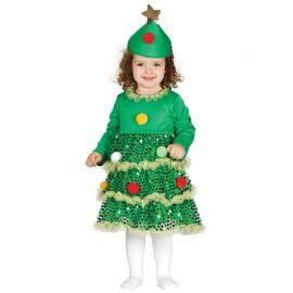 Disfraz de Árbol de Navidad para Bebé Brillante
