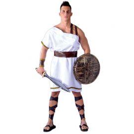 Disfraz de Espartano para Hombre Túnica Blanca