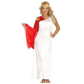 Disfraz de Romana para Mujer Vestido Blanco
