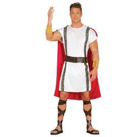 Disfraz de Romano para Hombre con Capa Roja