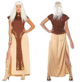 Disfraz de Reina Dragón Mujer con Tonos Marrones