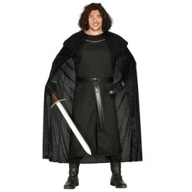 Disfraz de Vigilante Medieval Hombre con Túnica Negra