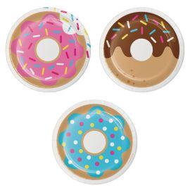 8 Platos Donut Time 18 cm