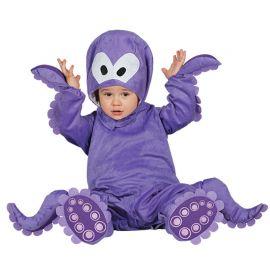 Disfraz de Pulpo Bebé Morado