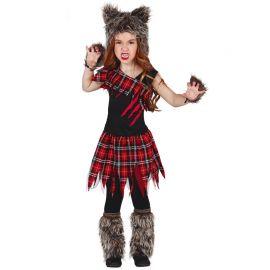 Disfraz de Lobo para Niña Estilo Escocés