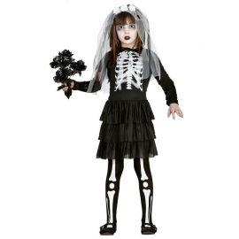 Disfraz de Novia Esqueleto para Niña Monstruosa