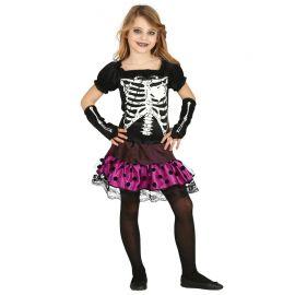 Disfraz de Urban Skeleton para Niña con Topos