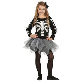 Disfraz de Esqueleto Niña de Manga Larga