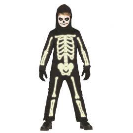 Disfraz de Esqueleto Infantil Mono Luminoso