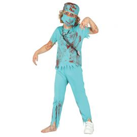 Disfraz de Zombie Cirujano Niño con Mascarilla