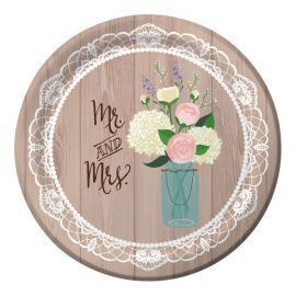 8 Platos Rustic Wedding 26 cm