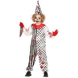 Disfraz de Zombie Payaso Niño con Estampado