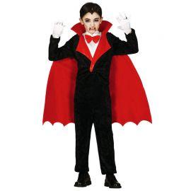 Disfraz de Vampiro para Niño con Capa Roja