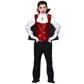 Disfraz de Drácula para Niño con Pechera Roja