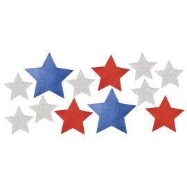 12 Recortables Estrellas Glitter