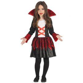Disfraz de Vampiresa Baronesa Niña con Detalles