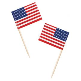 50 Palillos Bandera Americana