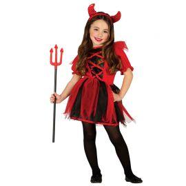 Disfraz de Diablesa para Niña con Detalles de Tul