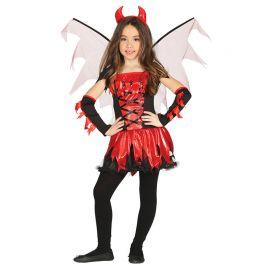 Disfraz de Diablesa para Niña Vestido Con Alas