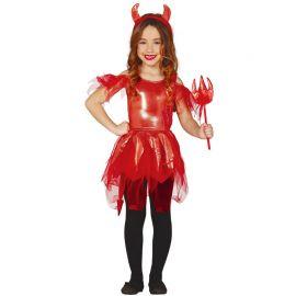 Disfraz de Diablesa para Niña Vestido Brillante