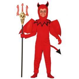 Disfraz de Diablillo para Niño Mono Rojo Infantil