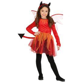 Disfraz de Diablesa para Niña con Vestido Adornado