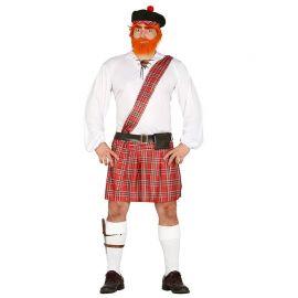 Disfraz de Escocés para Hombre con Banda