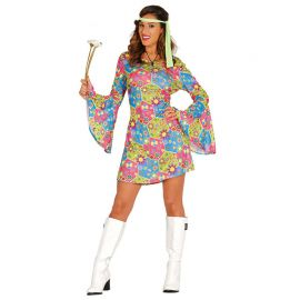 Disfraz de Flower Power Hippie para Mujer