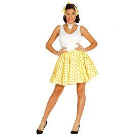Disfraz de Pin Up Mujer con Falda Amarilla