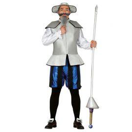 Disfraz de Caballero Errante Gris para Hombre