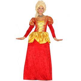 Disfraz de Condesa Rojo para Mujer con Enagua
