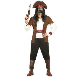 Disfraz de Pirata Siete Mares para Hombre con Cinta de Cabeza