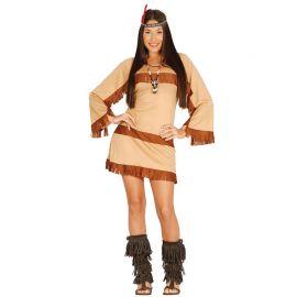 Disfraz de India del Gran Cañón para Mujer con cinta de pelo